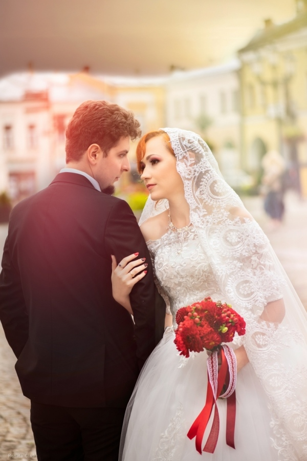 Pati and MAciek wedding couple portrait