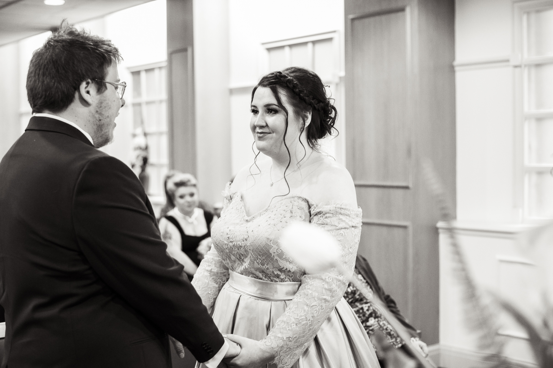 Candid Documentary Reportage Wedding Day Photography and Elegant Wedding Couple Portrait by Worcestershire wedding photographer Renata Clarke