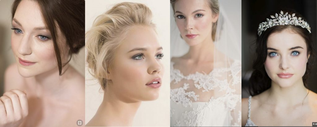 English Rose wedding makeup ideas
