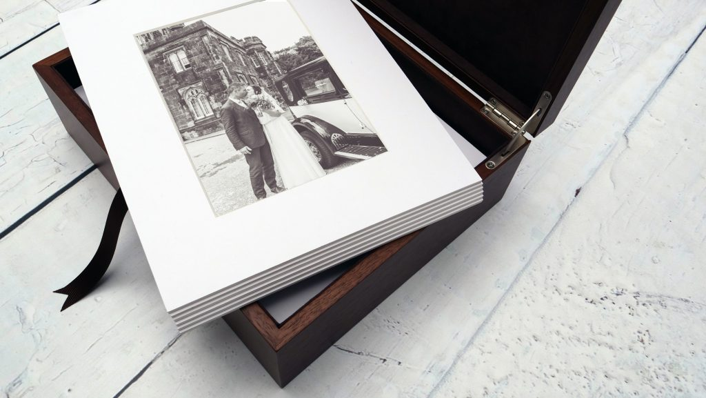 folio box with prints available at Wedding Photography by Renata Clarke in Worcestershire
